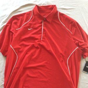Red Nike Polo Shirt